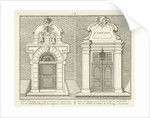 Gate of the leper house and the St. Jorishof Amsterdam by Jan Matthias Cok