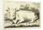 Lying cow by Johannes van Cuylenburgh