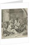 Interior with peasant family by Cornelis Pietersz. Bega