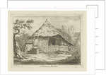 Barn with open upper door by Carel Lodewijk Hansen