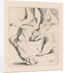 Four studies of feet by Augustinus Terwesten I