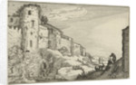 Landscape with Roman ruins by Claes Jansz. Visscher II