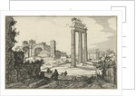Temple of Castor and Pollux and the Basilica of Constantine by Claes Jansz. Visscher II