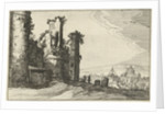 View of Rome from Monte Pincio by Claes Jansz. Visscher II