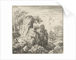 Landscape with large rock by Allaert van Everdingen