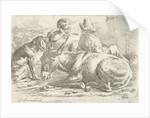 Two incumbent muleteers by Jan van Ossenbeeck