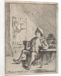 Seated farmer with jug and pipe by David Teniers II
