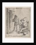 Two farmers near the fireplace by David Teniers II