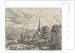 Village situated near a river by Lucas van Uden