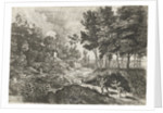 Landscape with two putti by Lucas van Uden