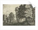 Shepherd at a forest edge by Jean Baptiste Bonnecroy