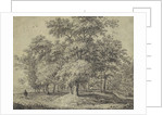 Man with a dog in a forest by Anthonie Waterloo