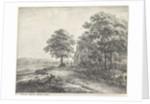 Big lime tree before an inn by Anthonie Waterloo