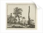 Landscape with a high pole by Hermanus Fock