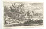 Landscape with a tomb by Lodewijk XIV