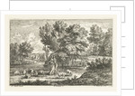 Landscape with two shepherdesses by Lodewijk XIV