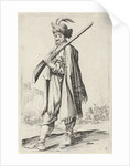 Man with gun and feathered hat by Clement de Jonghe