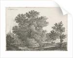 Landscape with big tree by Pieter Casper Christ