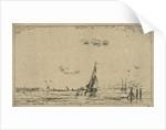 River view with sailing ship by Jan Daniël Cornelis Carel Willem baron de Constant Rebecque