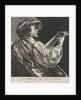 Lute playing man by Salomon Savery