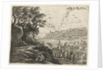 Landscape with a man, woman and child by Frans van den Wijngaerde