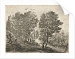 Landscape with sedentary farmer by Frans van den Wijngaerde