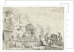 Soldiers in two carts by Robert van den Hoecke