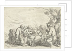 Drinking farmers at a table by Andries Both