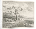 Landscape with falconers by J.W.P.