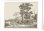 Landscape with the roof of a haystack by baron Reinierus Albertus Ludovicus van Isendoorn à Blois