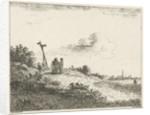 Landscape with signpost by baron Reinierus Albertus Ludovicus van Isendoorn à Blois
