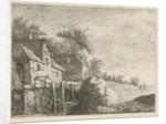 Watermill in a landscape by baron Reinierus Albertus Ludovicus van Isendoorn à Blois