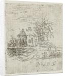 House with tree by baron Reinierus Albertus Ludovicus van Isendoorn à Blois