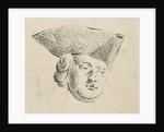 Mans head with hat by Caspar Jacobsz. Philips
