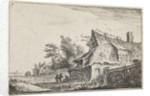 Village scene with a watermill, Anthonie Waterloo by Reinier & Josua Ottens