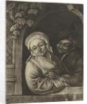 Couple in a window opening by Adriaen van Ostade