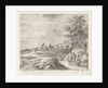 Landscape with four hikers by Philippe Lambert Joseph Spruyt