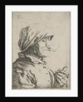 Old woman smokes a pipe by Jan Lauwryn Krafft I