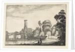 At a bridge and a ruin by Jan van de Velde II