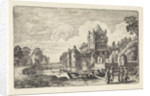 Landscape with the Amsterdam Gate in Haarlem by Jan van de Velde II