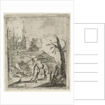 Landscape with fortuneteller by Anonymous