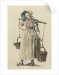 Peasant Woman with two baskets on a yoke by Johannes Huibert Prins