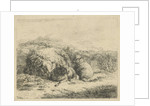 Lying sheep with two lambs by Adam von Bartsch