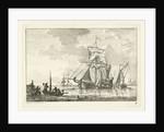 Four sailing on still water by Gerrit Groenewegen