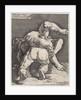 Two wrestlers by Jan Harmensz. Muller