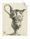 Ewer with lobe ornaments and masks by Christiaen van Vianen