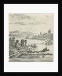 Fishermen on a river by Anthonij van der Haer