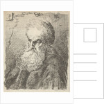 Bust of an old man with beard by Salomon Savery