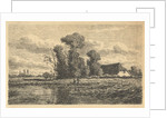 Landscape with ditch and farm by Adrianus van Everdingen