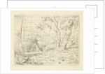 Landscape with two trees along a path by Adrianus van Everdingen